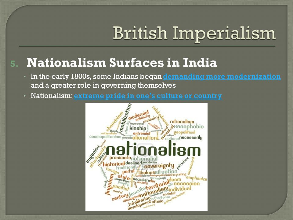 British Imperialism Nationalism Surfaces in India