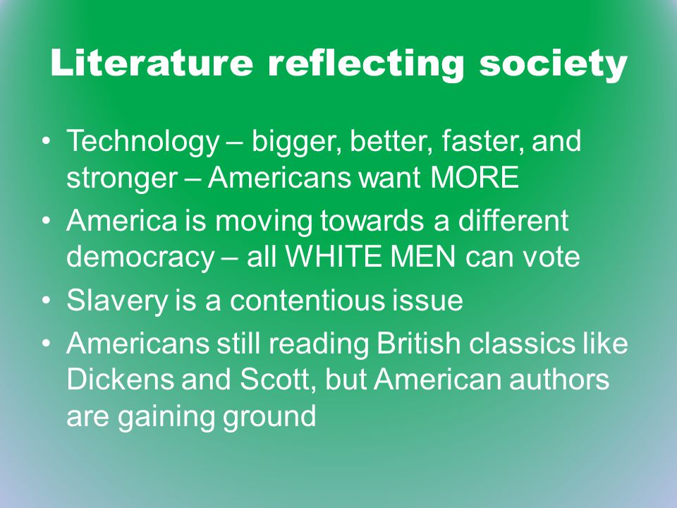 Literature reflecting society