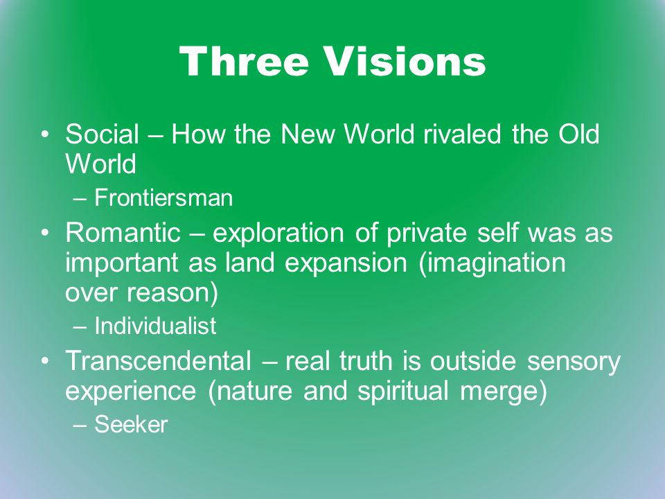 Three Visions Social – How the New World rivaled the Old World