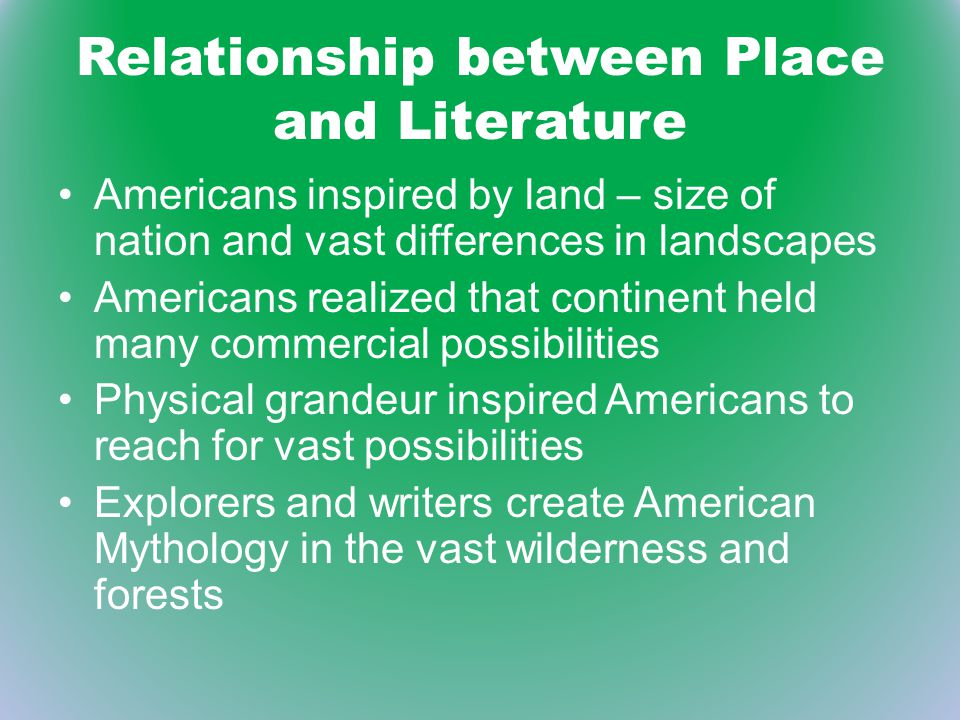 relationship between literature and place