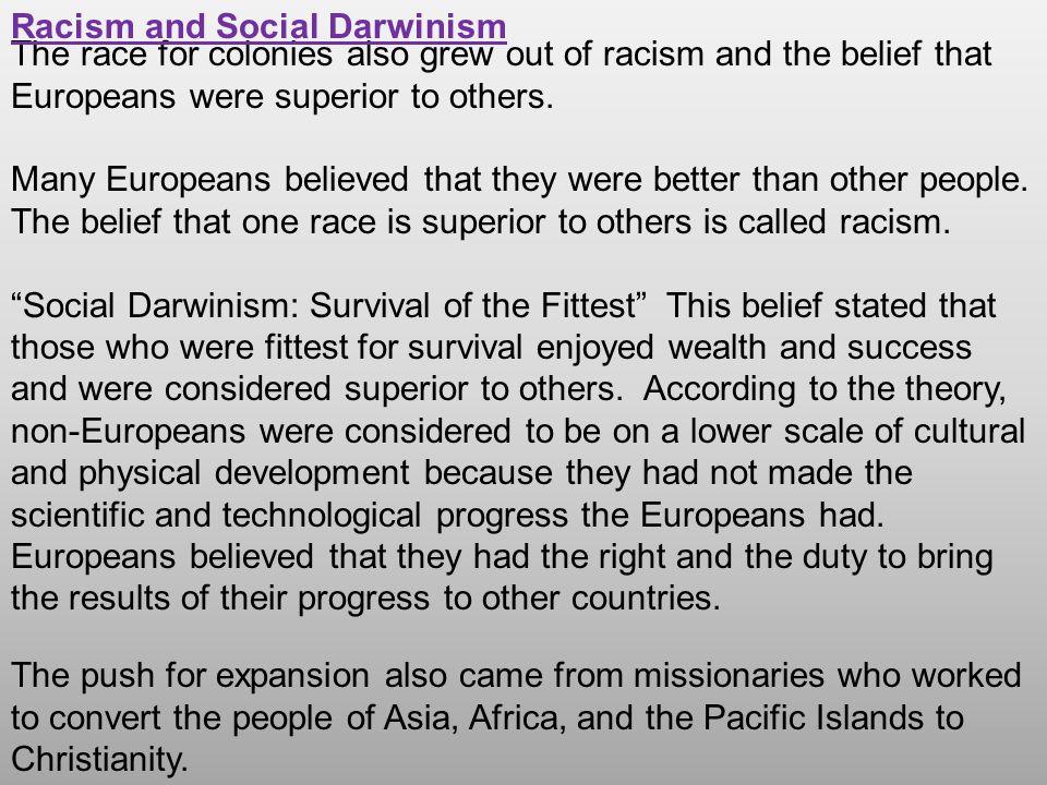 Racism and Social Darwinism