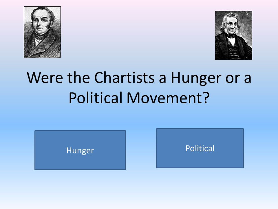 Were the Chartists a Hunger or a Political Movement