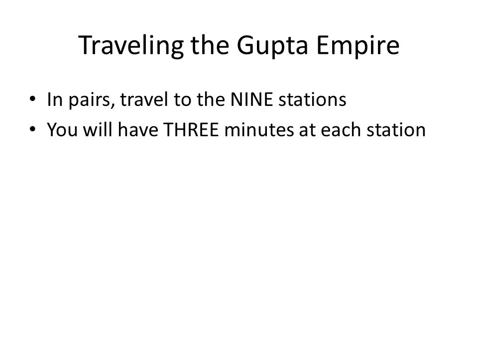 Traveling the Gupta Empire