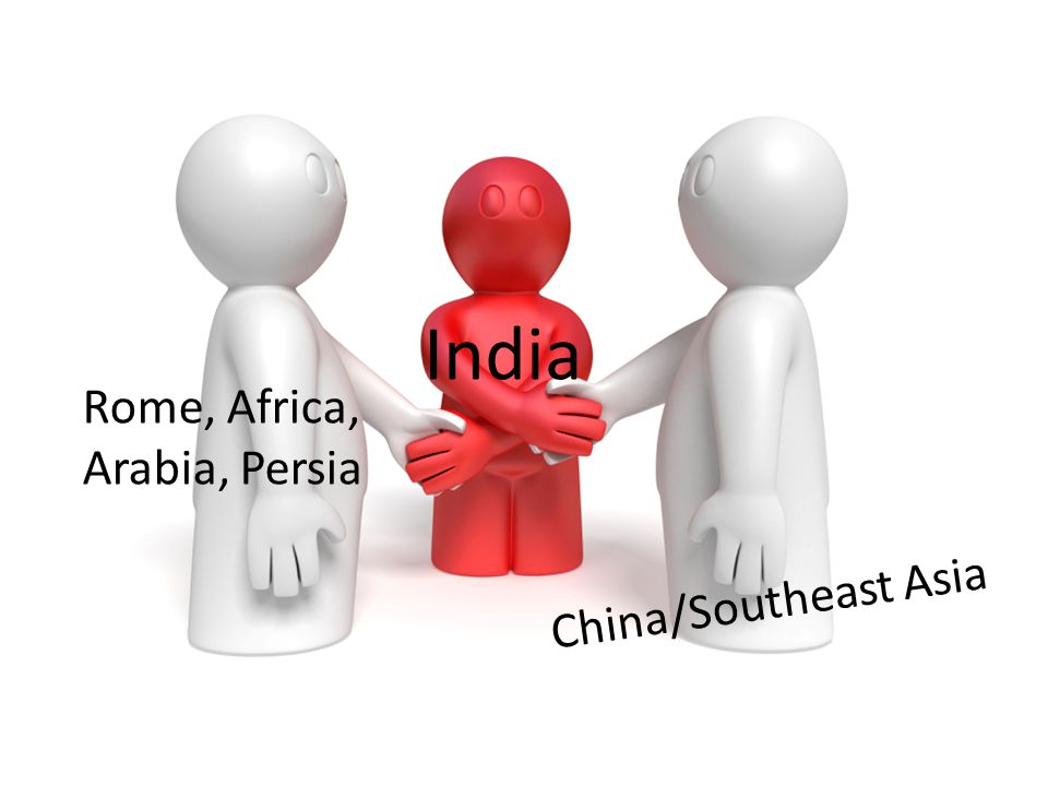 India Rome, Africa, Arabia, Persia China/Southeast Asia