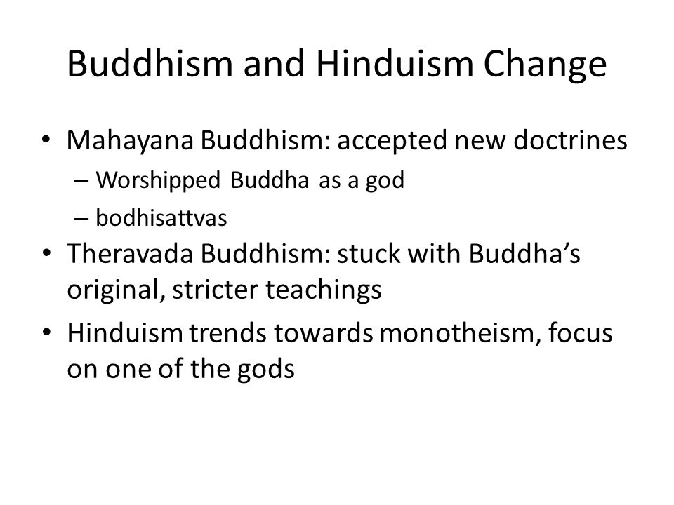 Buddhism and Hinduism Change