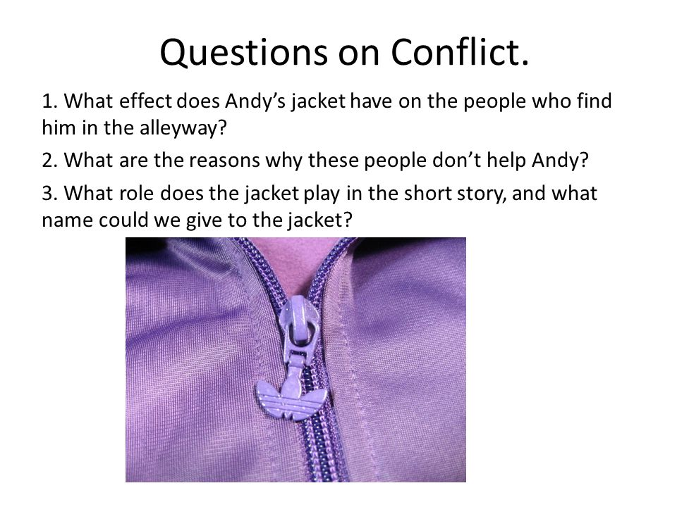 Questions on Conflict.