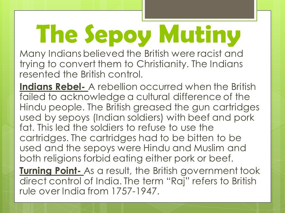 The Sepoy Mutiny