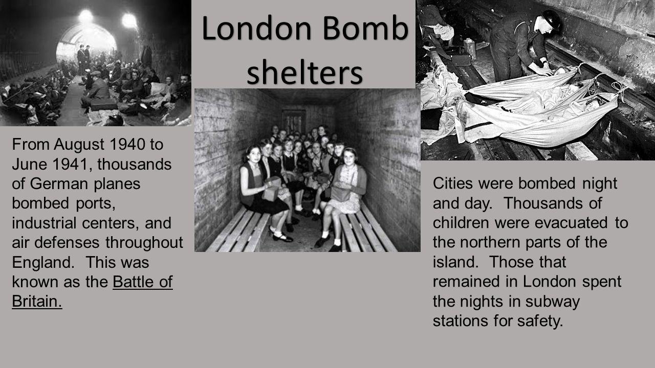 London Bomb shelters.