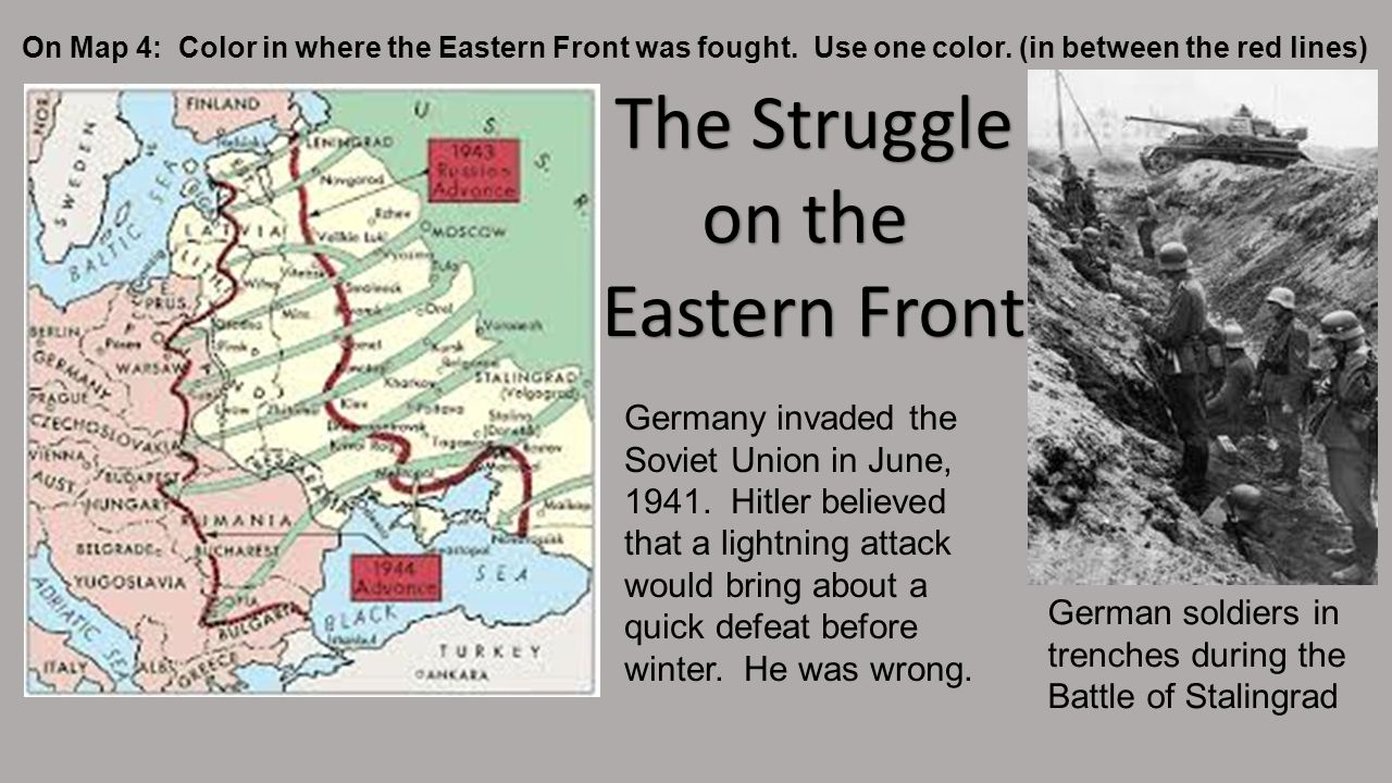 The Struggle on the Eastern Front