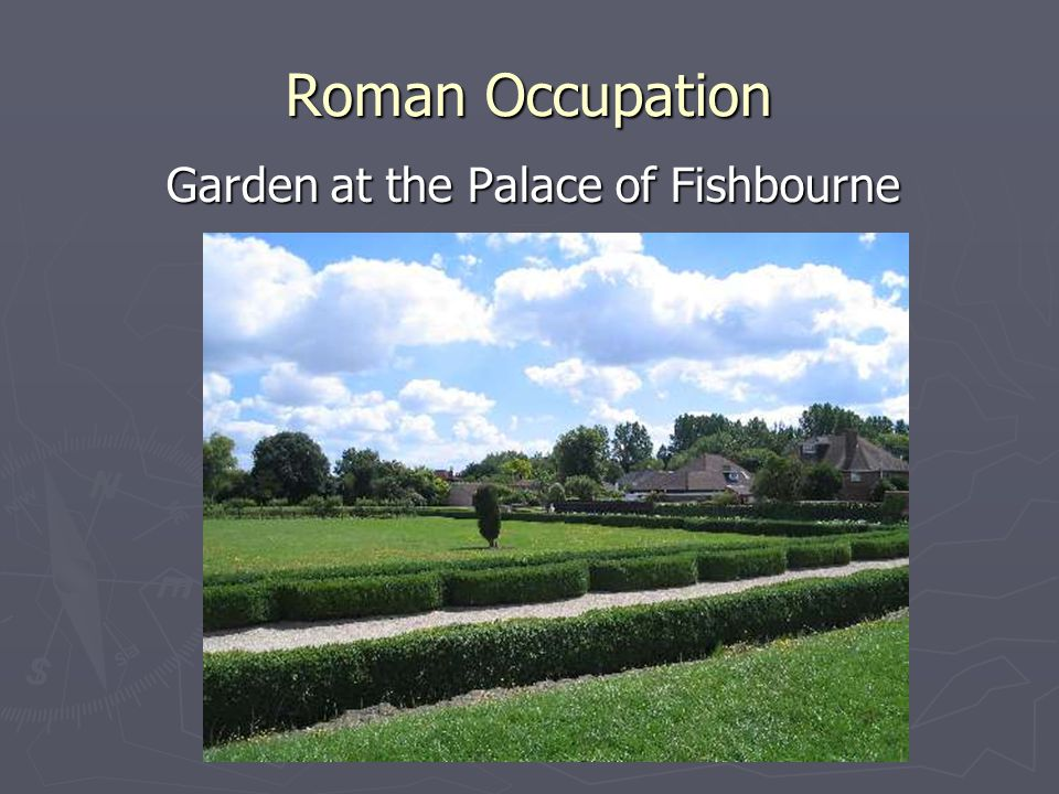 Garden at the Palace of Fishbourne