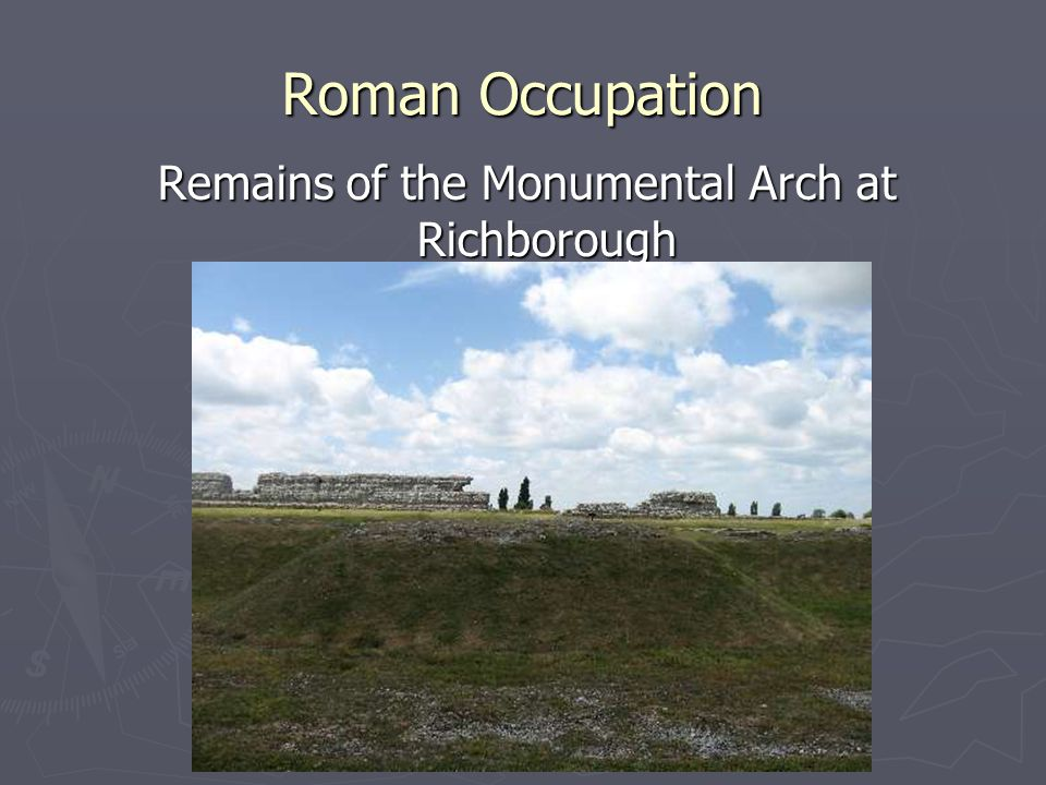Remains of the Monumental Arch at Richborough