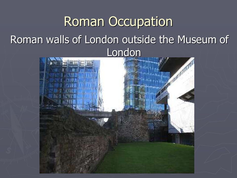 Roman walls of London outside the Museum of London