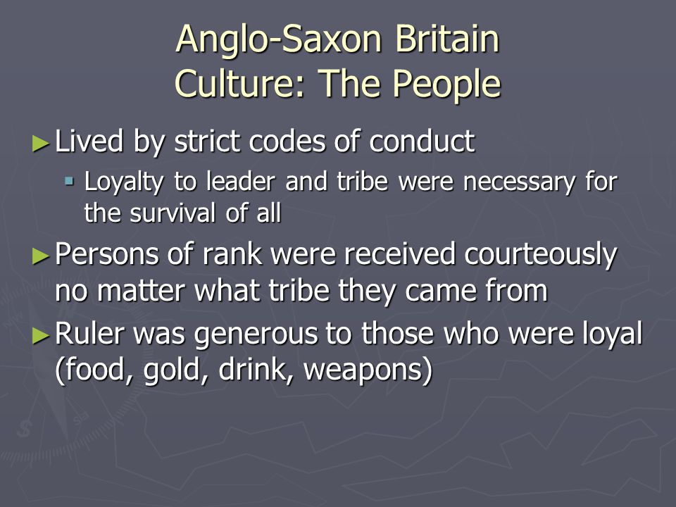 Anglo-Saxon Britain Culture: The People