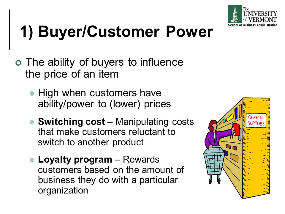 1) Buyer/Customer Power