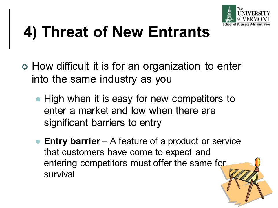 4) Threat of New Entrants