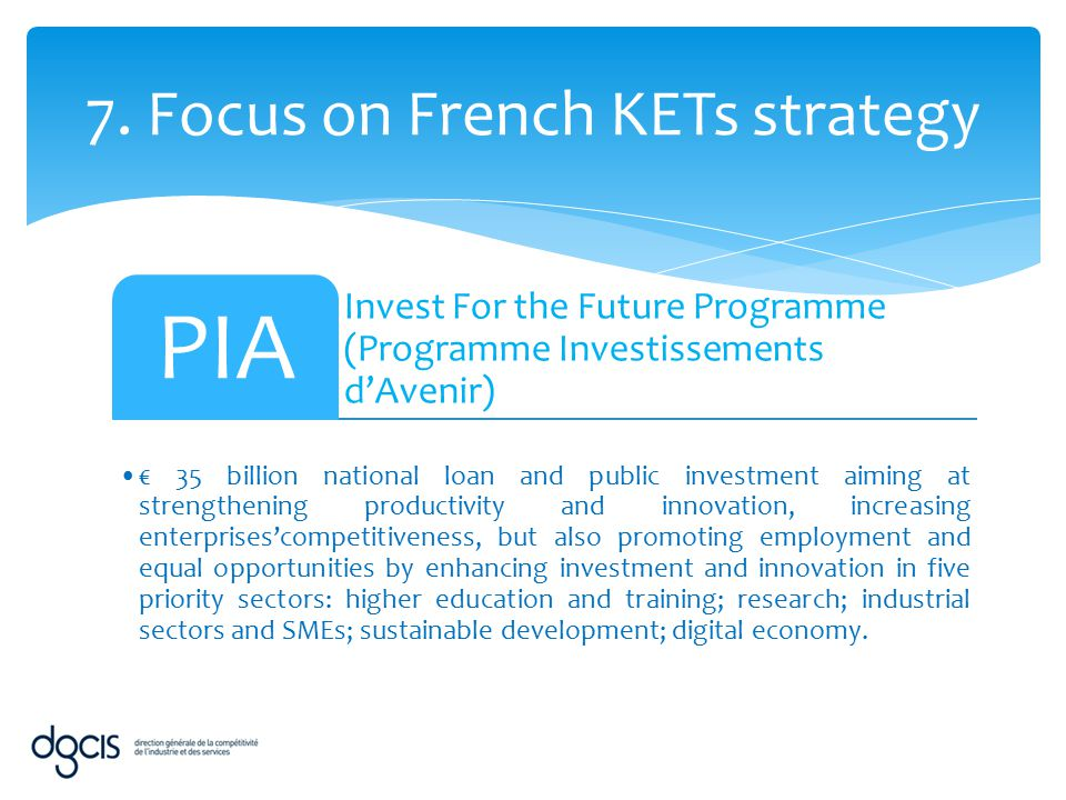 7. Focus on French KETs strategy