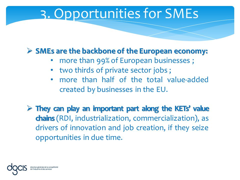3. Opportunities for SMEs