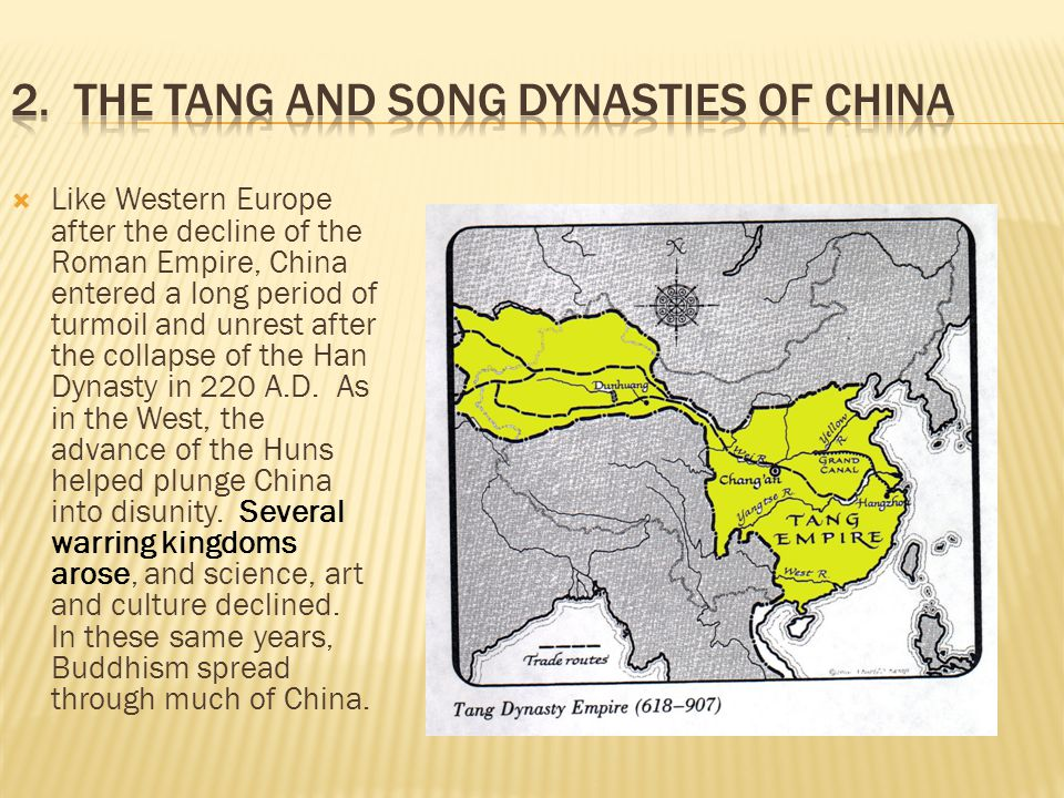 2. The Tang and Song Dynasties of China