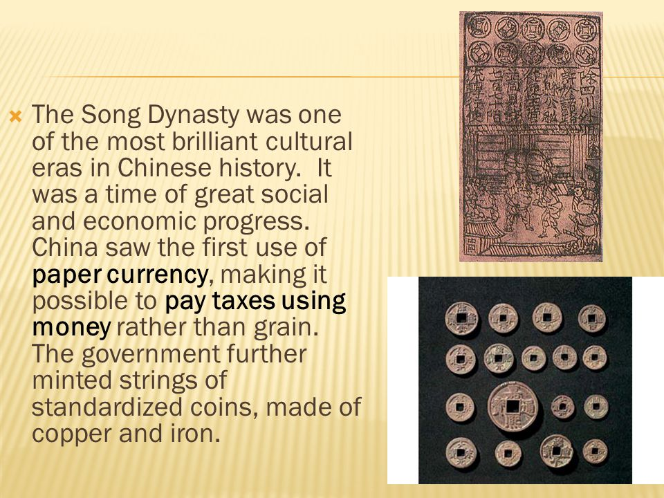 The Song Dynasty was one of the most brilliant cultural eras in Chinese history.