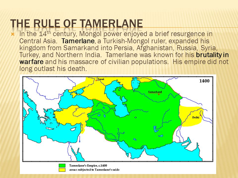 The Rule of Tamerlane