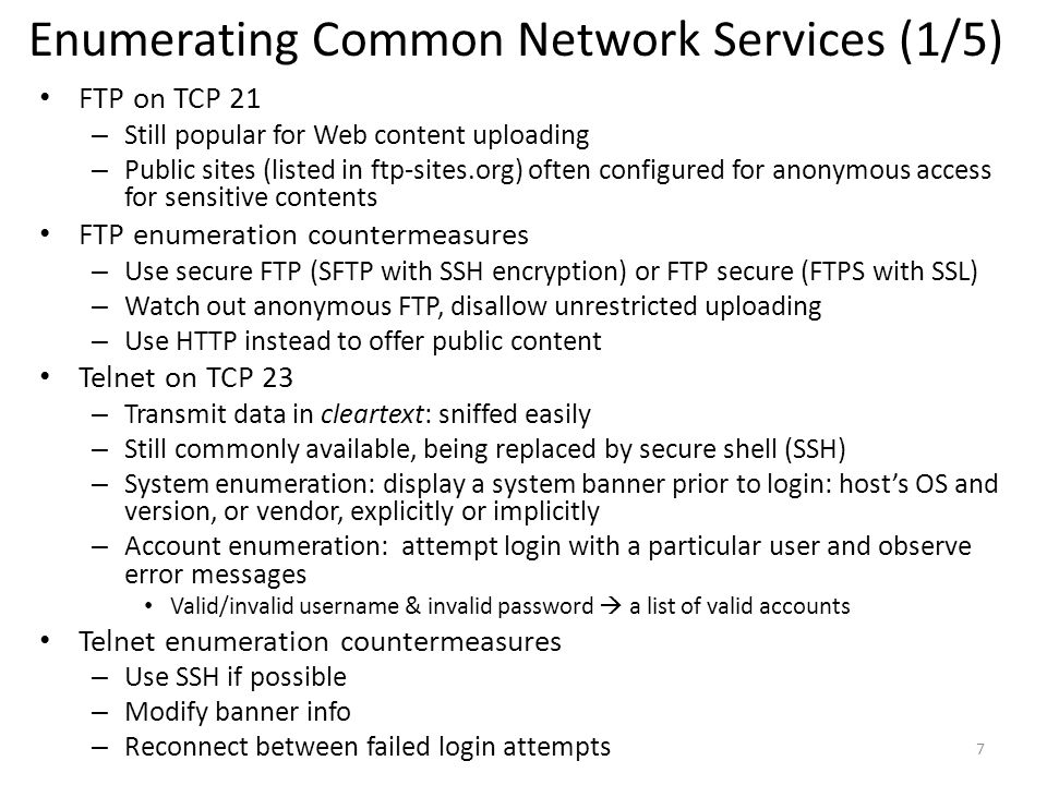 Enumerating Common Network Services (1/5)