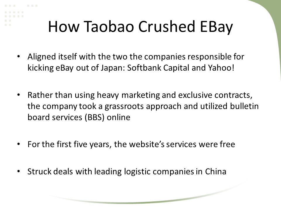 How Taobao Crushed EBay