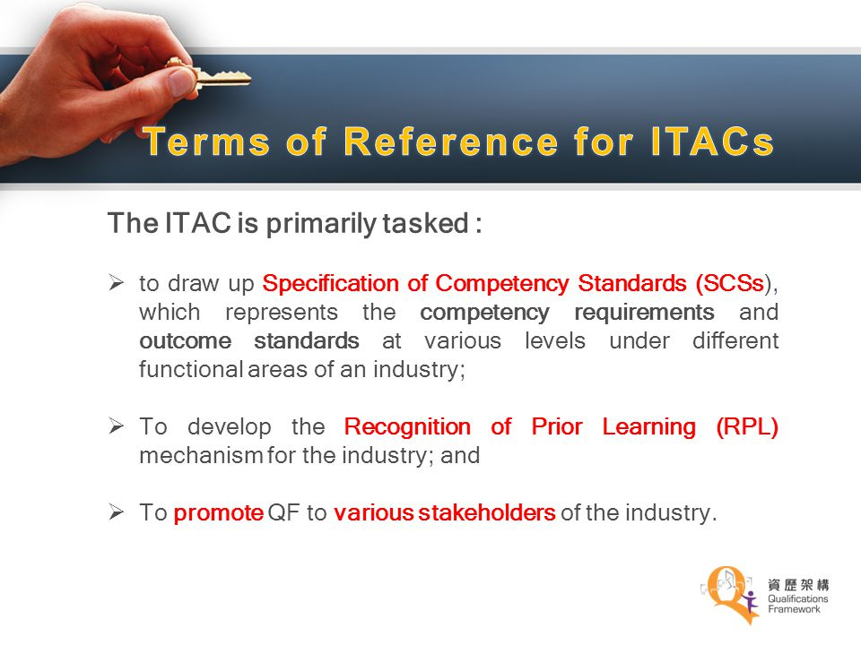 Terms of Reference for ITACs
