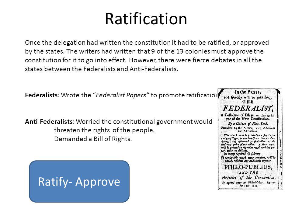 Ratification Ratify- Approve