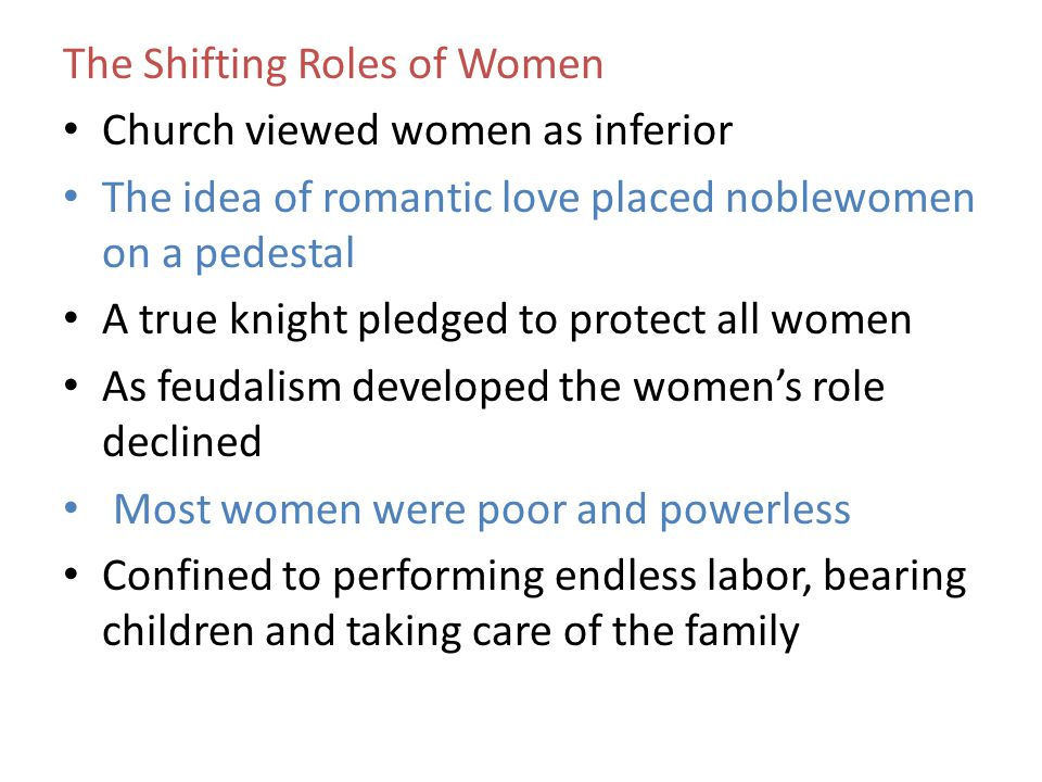 The Shifting Roles of Women