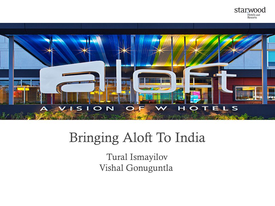 Bringing Aloft To India