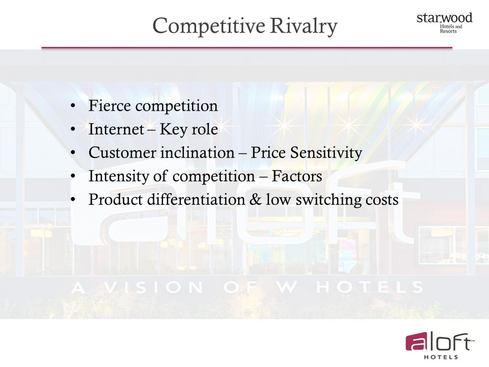 Competitive Rivalry Fierce competition Internet – Key role