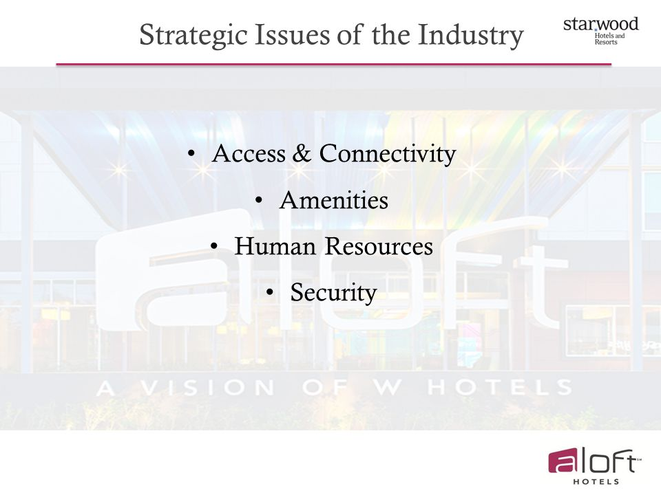 Strategic Issues of the Industry
