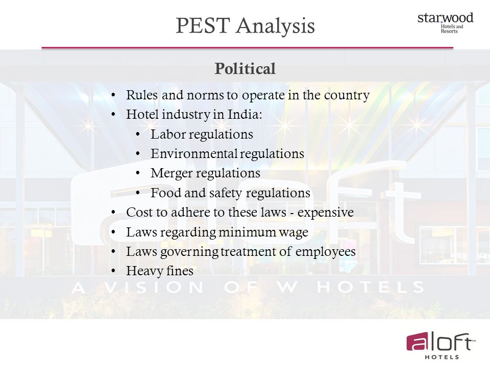 pest analysis on hotel industry Currently, marriott operates around 4,200 hotels in 79 countries and  such  events as the stock market collapse in china and the debt crisis in.