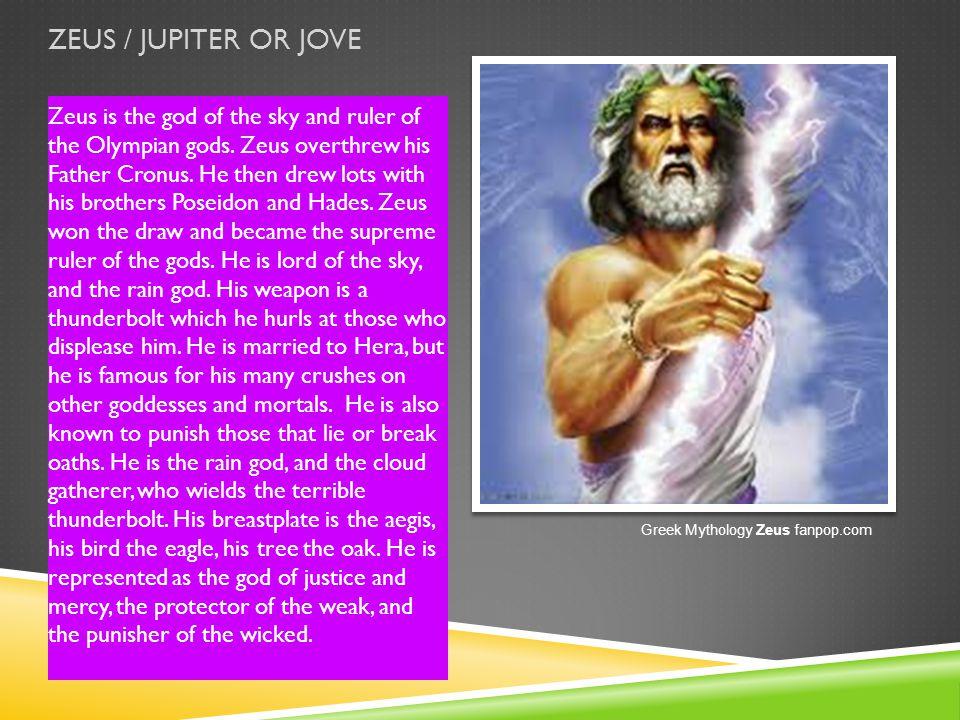ZEUS / JUPITER OR JOVE
