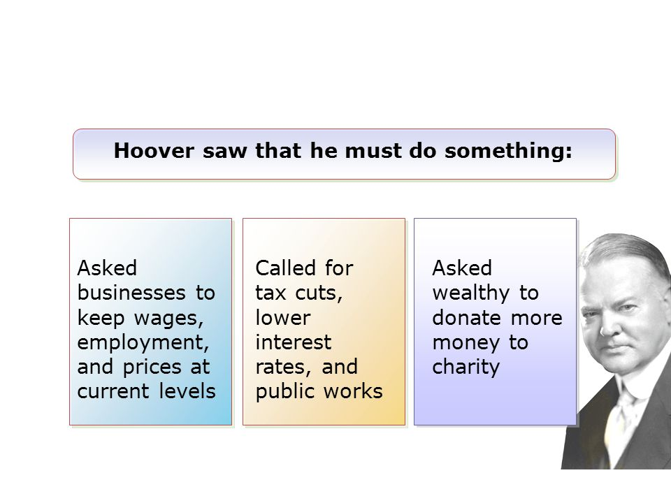 Hoover saw that he must do something: