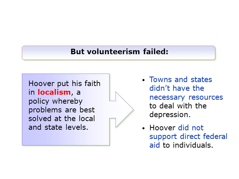 But volunteerism failed: