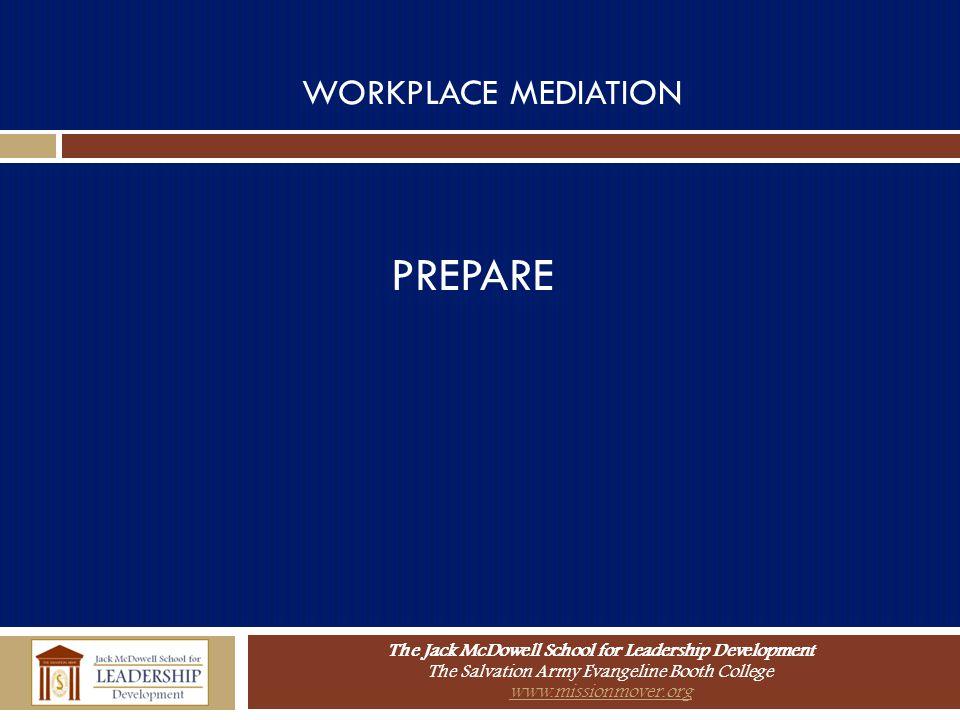 WORKPLACE MEDIATION PREPARE