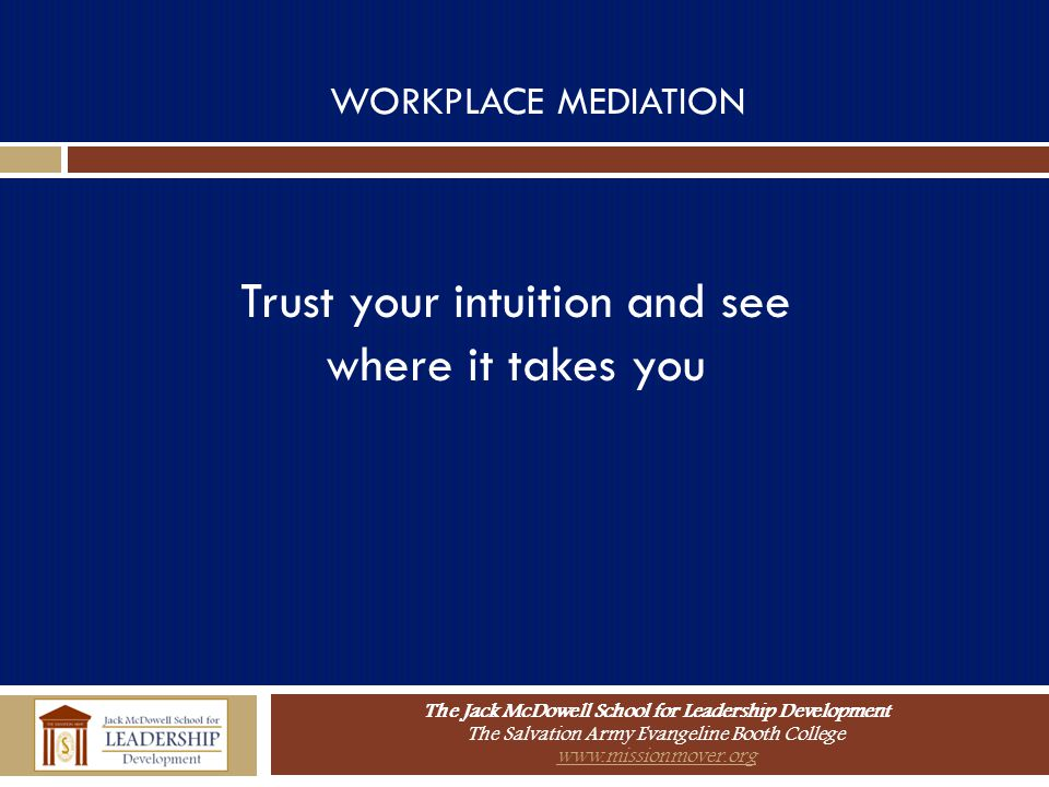 Trust your intuition and see