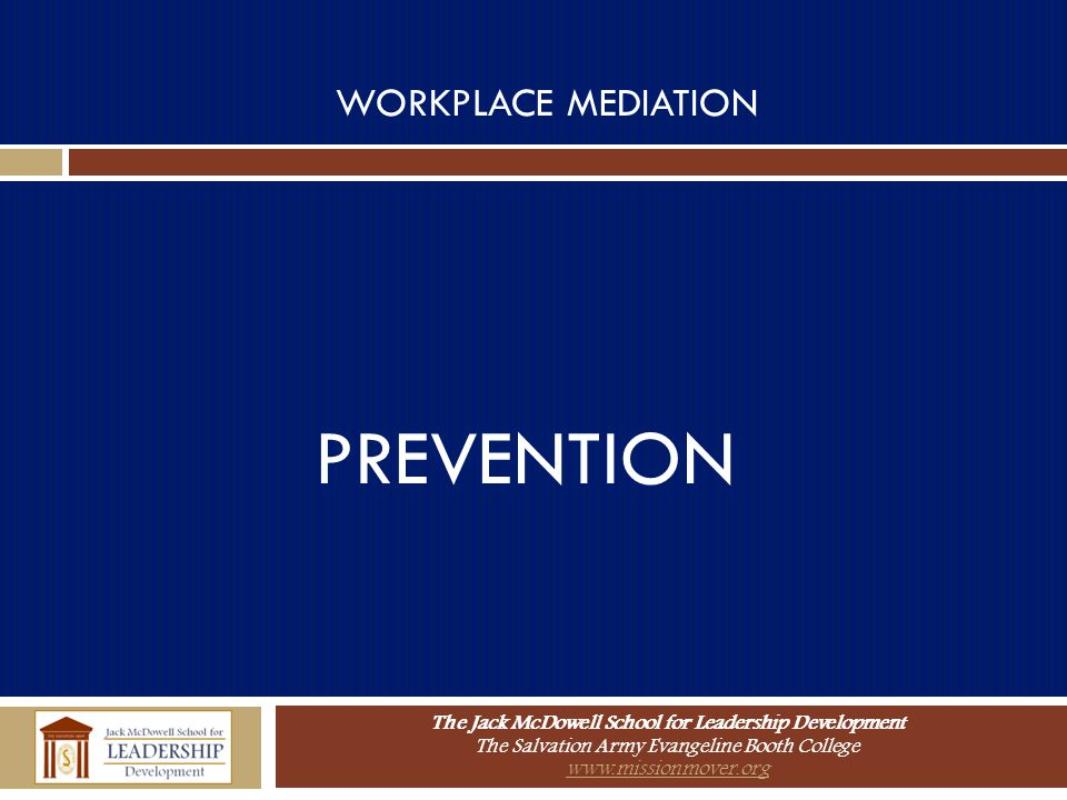 WORKPLACE MEDIATION PREVENTION