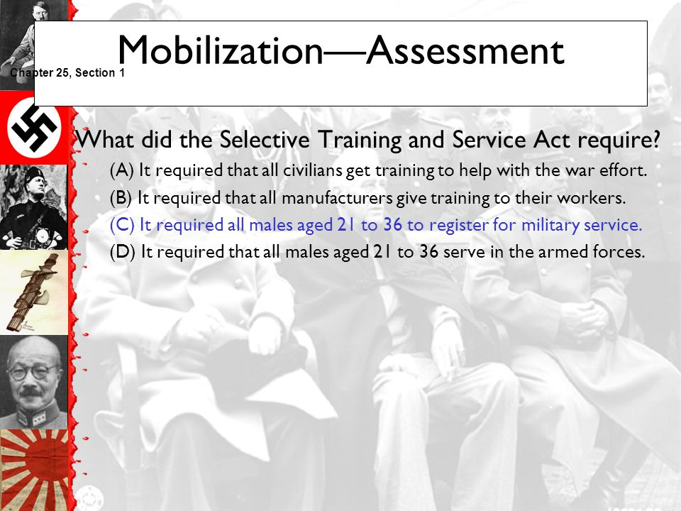 Mobilization—Assessment