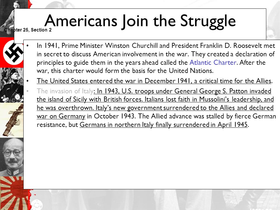 Americans Join the Struggle