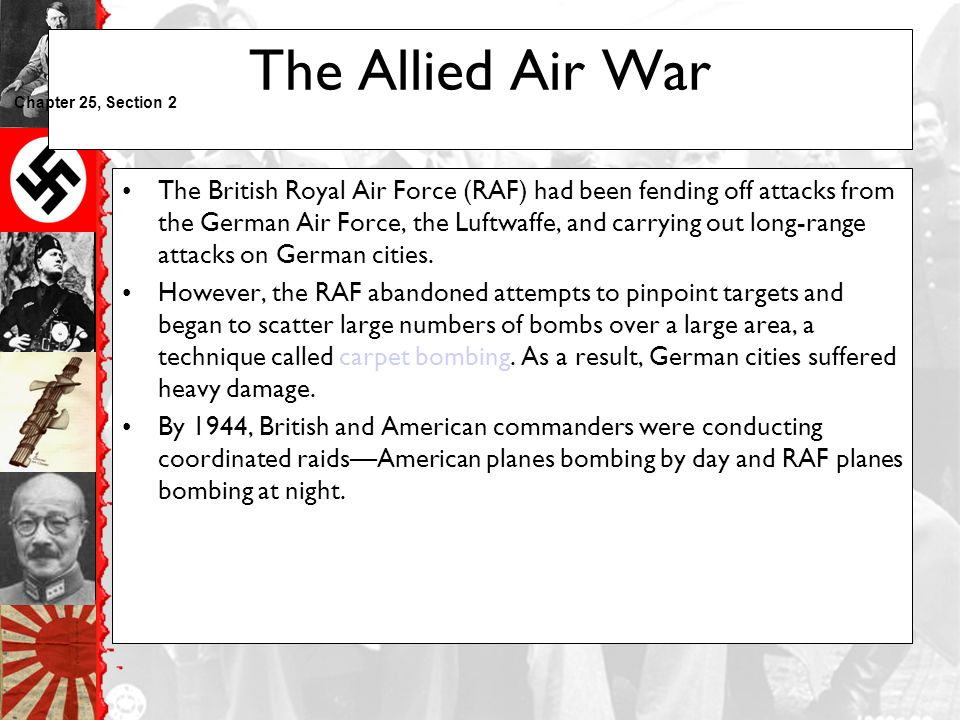 The Allied Air War Chapter 25, Section 2.