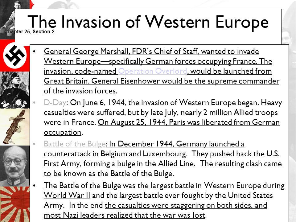 The Invasion of Western Europe