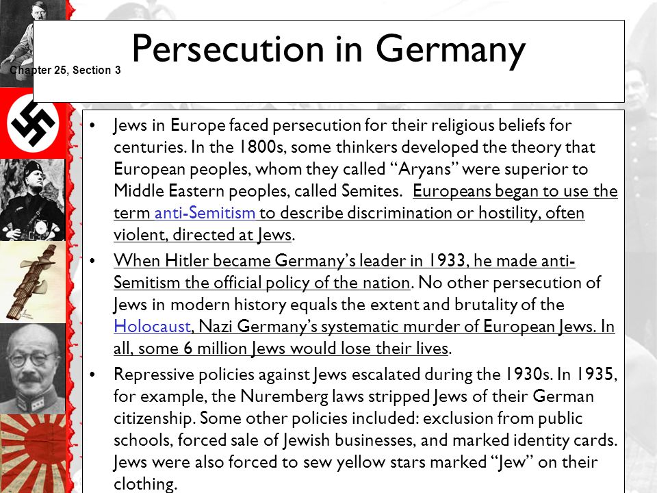 Persecution in Germany