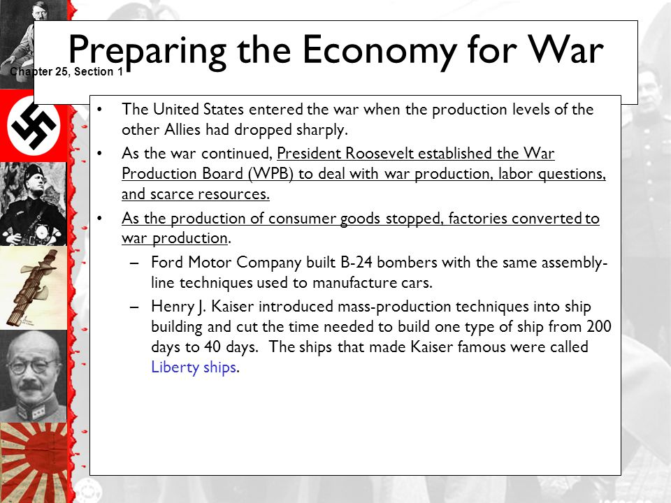 Preparing the Economy for War