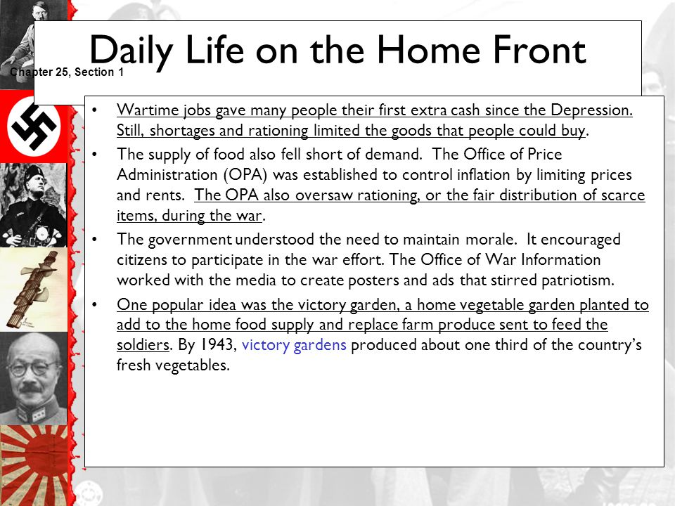 Daily Life on the Home Front