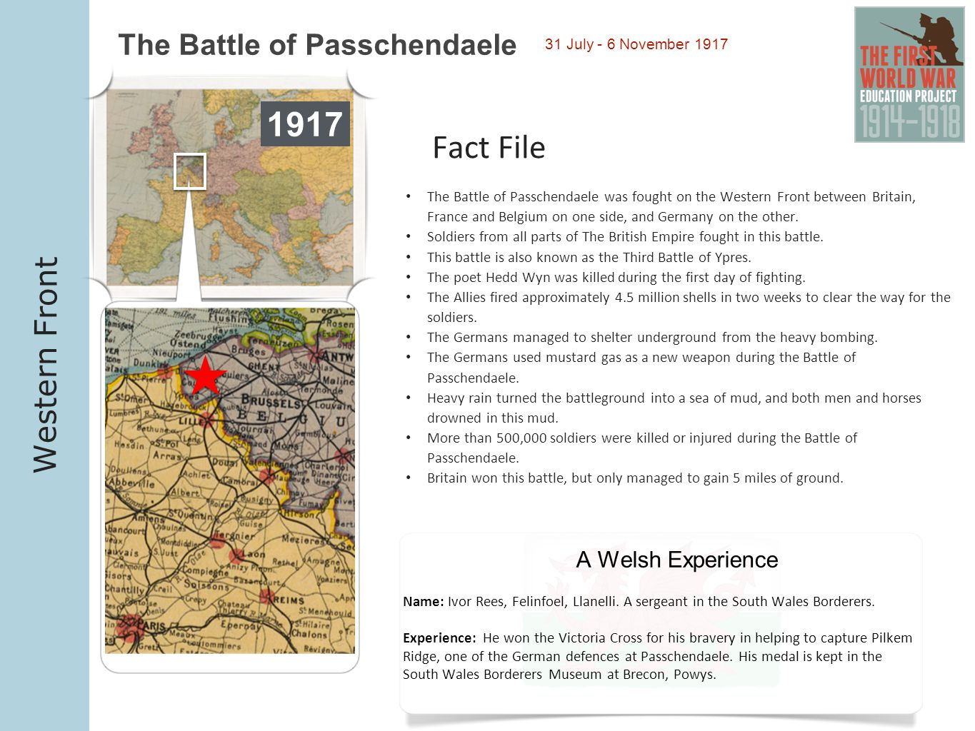 1917 Fact File Western Front The Battle of Passchendaele