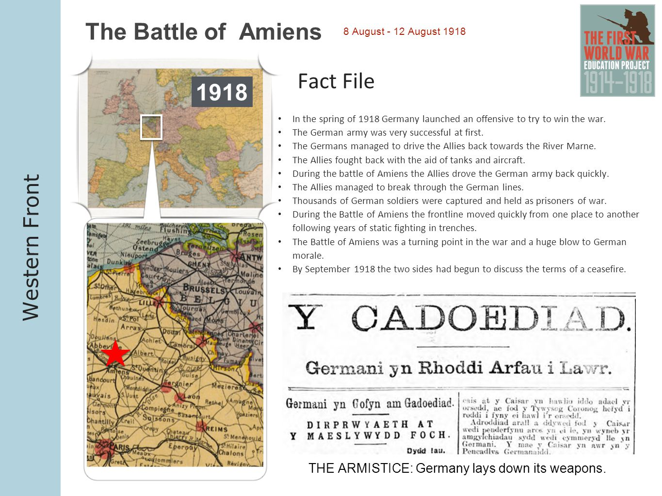 THE ARMISTICE: Germany lays down its weapons.