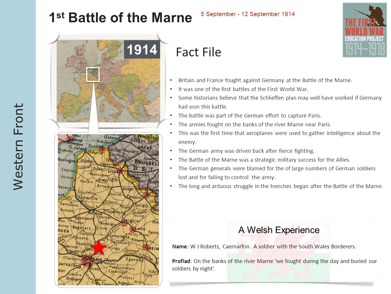 1st Battle of the Marne 1914 Fact File Western Front
