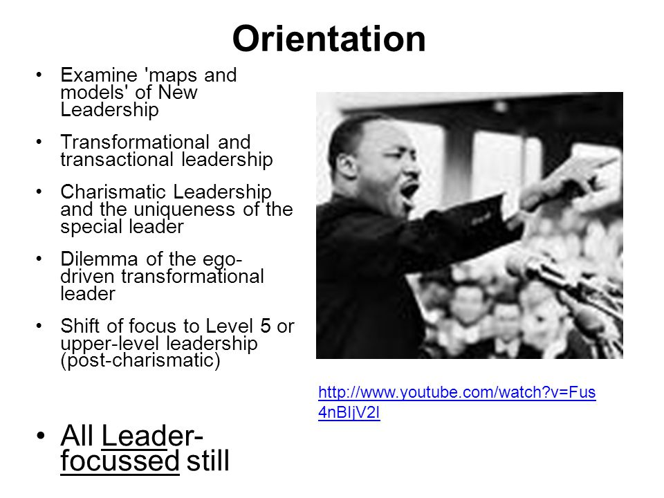 Orientation All Leader- focussed still